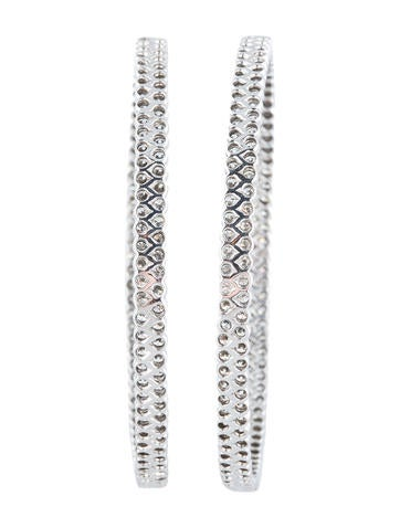 X-Large Inside Out Diamond Hoop Earrings 14.80ctw
