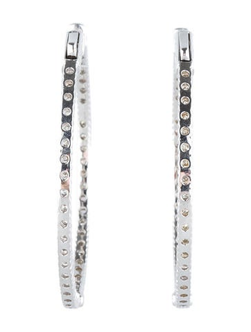 Inside Out Diamond Hoop Earrings 3.24ctw