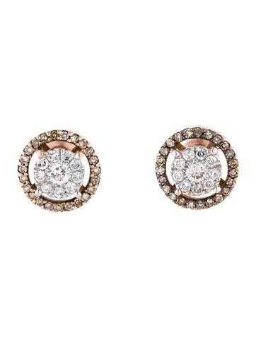 Champagne Diamond Stud Earrings