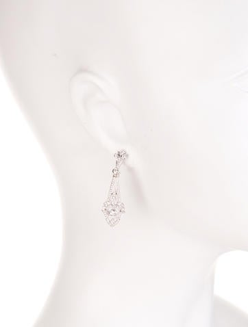 1.07ctw Diamond Chandelier Earrings