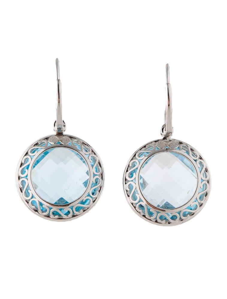 blue topaz and diamond earrings earrings fje21209. Black Bedroom Furniture Sets. Home Design Ideas