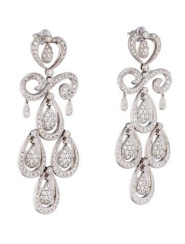 5.13ctw Diamond Chandelier Earrings