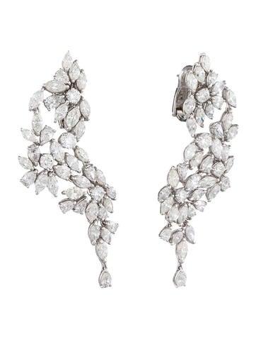 13.00ctw Diamond Spray Earrings