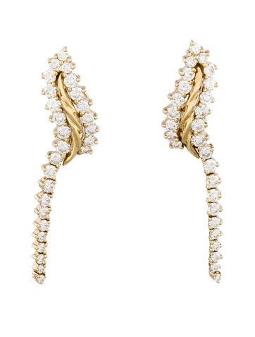 Jose Hess 3.39ctw Diamond Earrings
