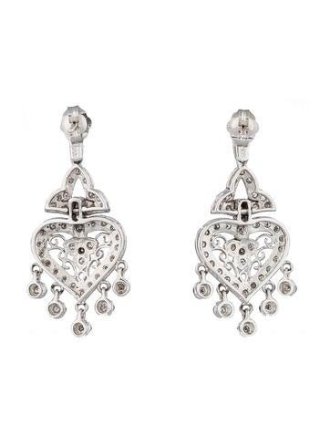 Diamond Filigree Chandelier Earrings