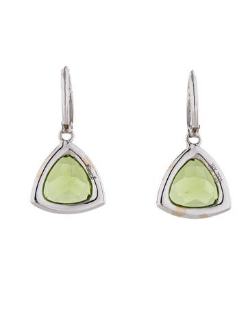 Rina Limor 7.51ctw Peridot and Diamond Dangle Earrings w/ Tags
