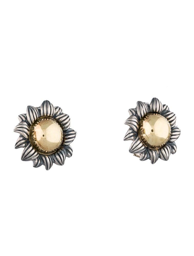 Suna Brothers Sunflower Earrings