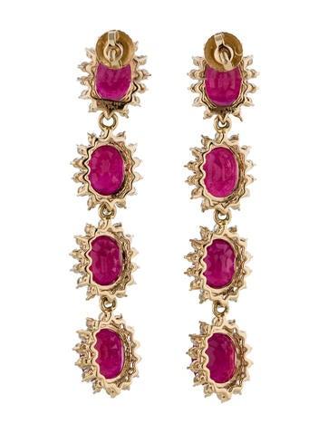20.0ctw Ruby and Diamond Earrings