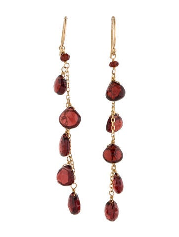13.50ctw Garnet Drop Earrings