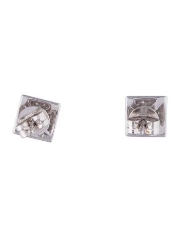 Diamond Pyramid Stud Earrings