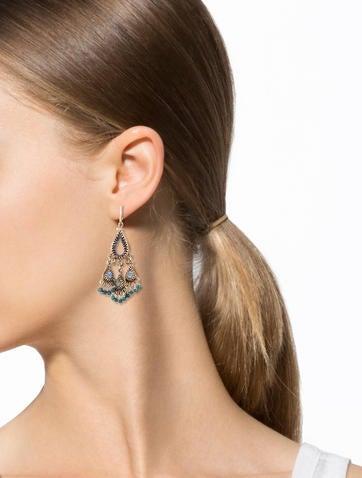 Labradorite & Pearl Chandelier Earrings