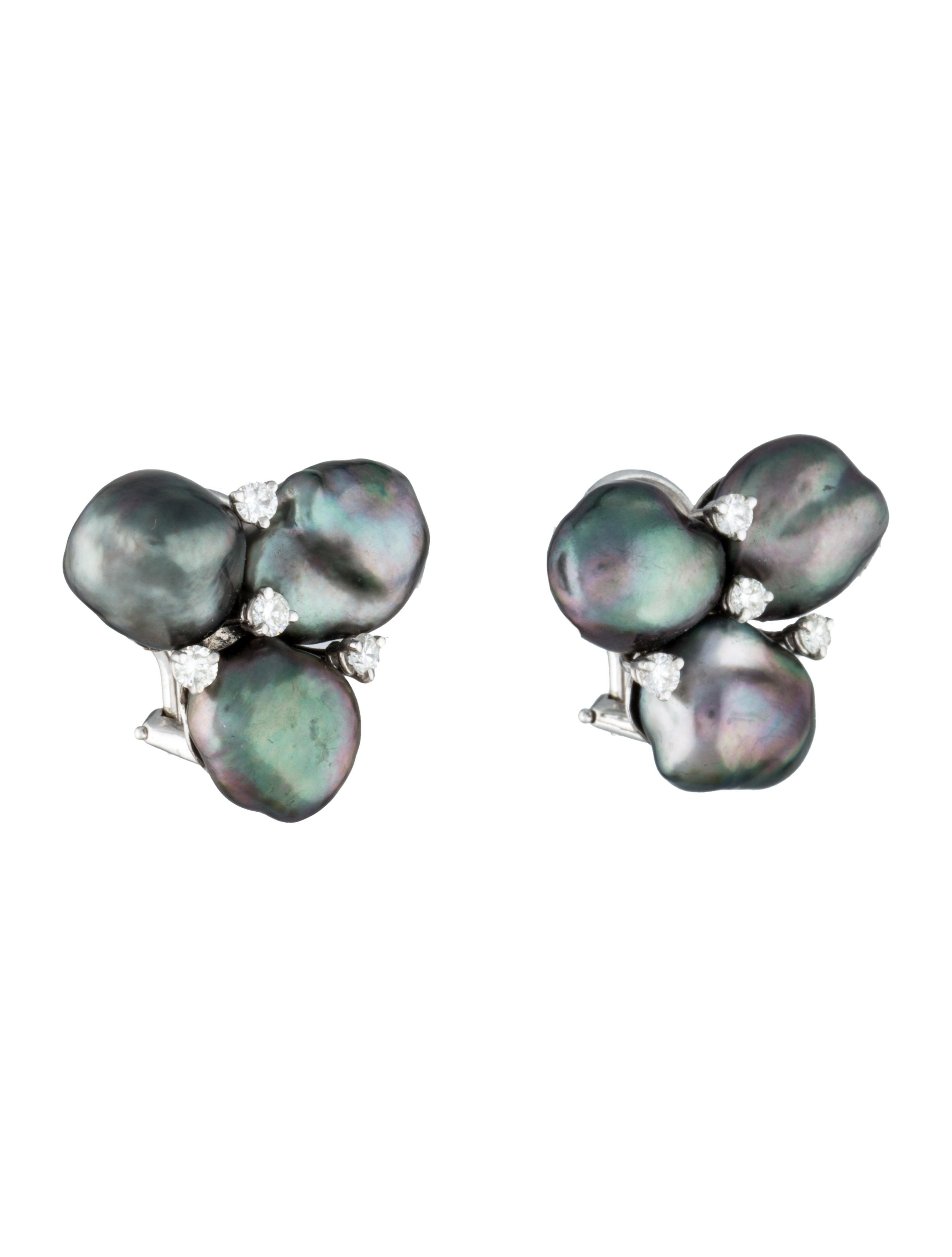 tahitian keshi pearl earrings earrings