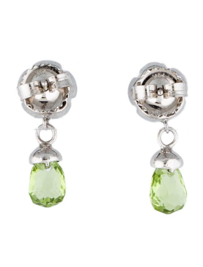 Peridot and Diamond Drop Earrings - 28.7KB