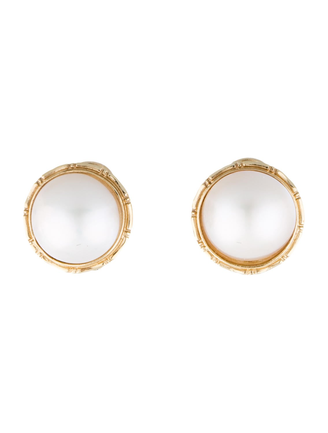 14k mabe pearl earrings earrings fje24697 the realreal