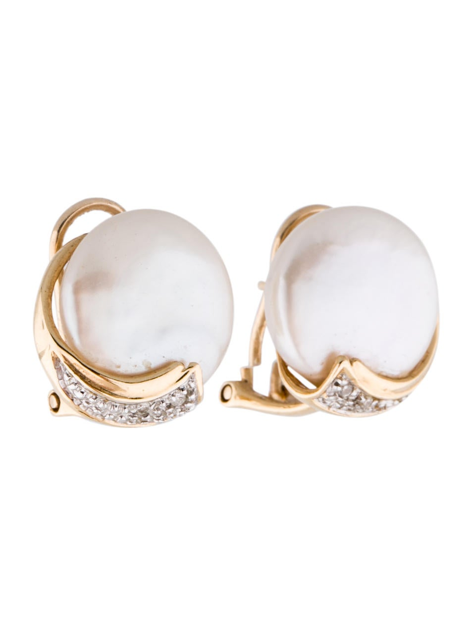 14k mabe pearl and diamond earrings earrings fje24872. Black Bedroom Furniture Sets. Home Design Ideas