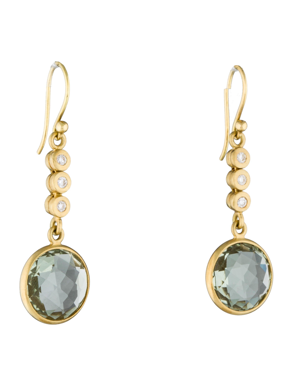 prasiolite drop earrings earrings fje24886