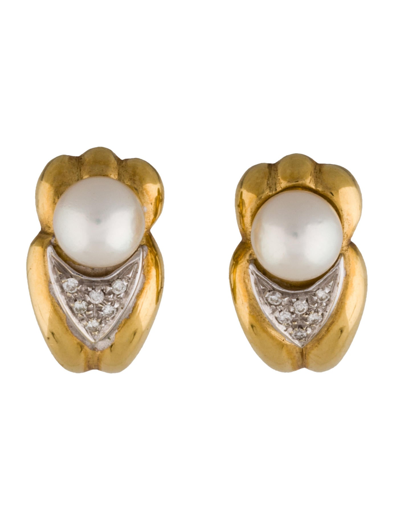 pearl and diamond clip on earrings earrings fje26466. Black Bedroom Furniture Sets. Home Design Ideas