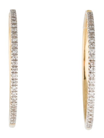 14K Diamond Hoop Earrings