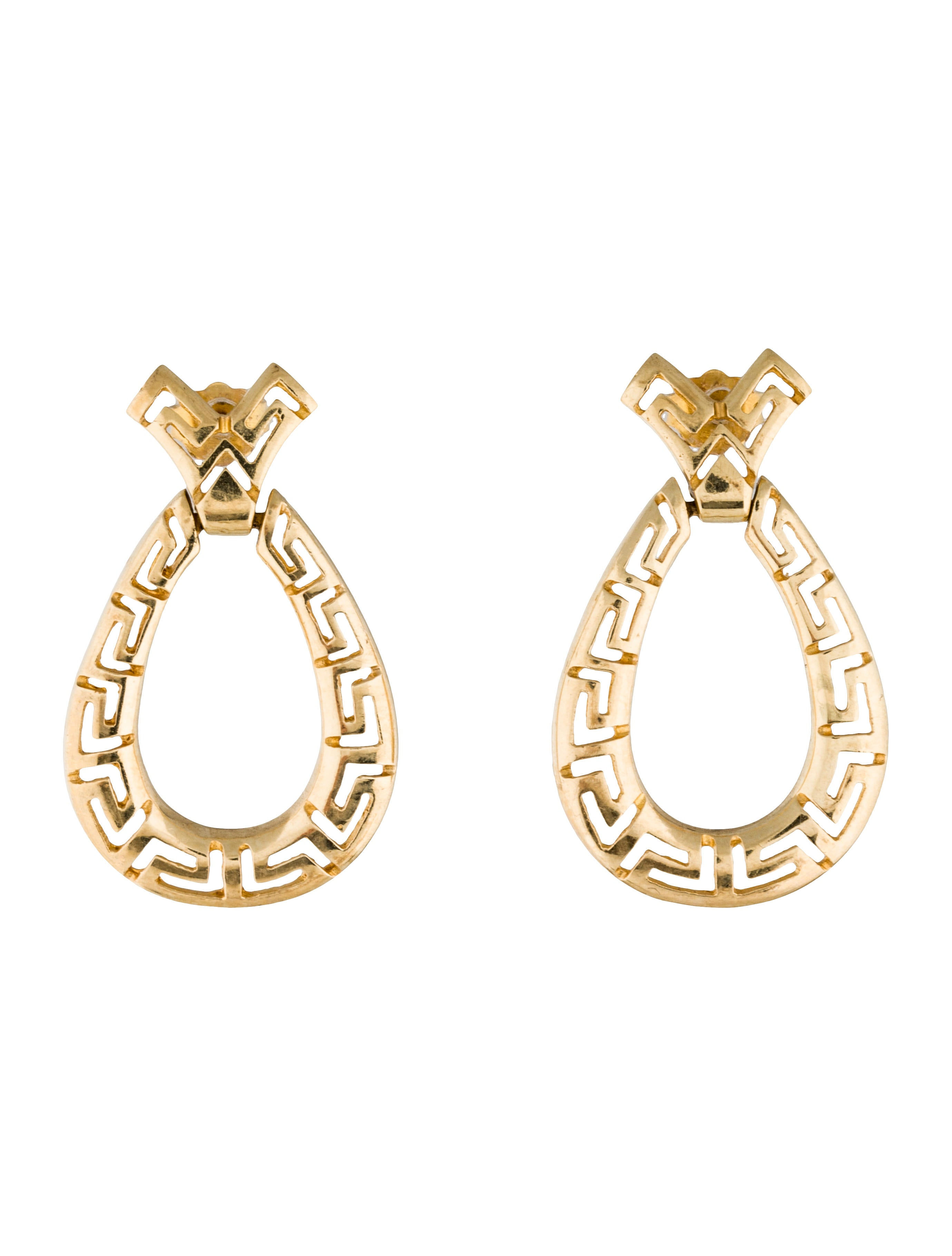 Fine jewelry earrings greek key hoop earrings earrings for What is fine jewelry
