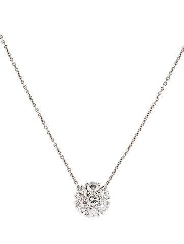 1.35ctw Diamond Flower Necklace