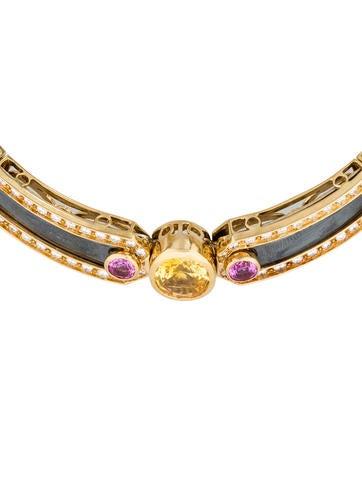 Gemstone Collar Necklace