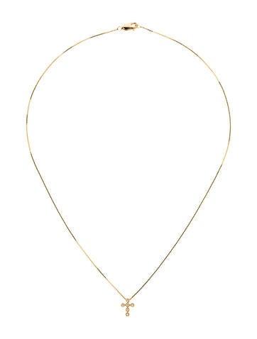 Rina Limor Diamond Mini Cross Necklace w/ Tags