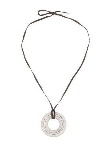 Christofle Disc Necklace