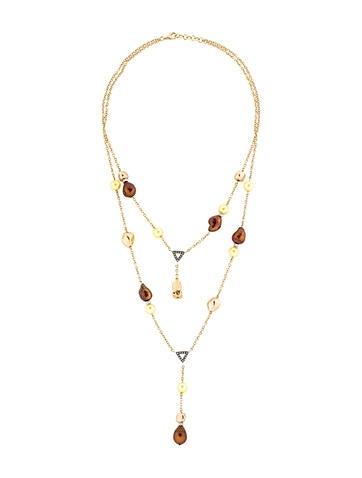 Salavetti Baroque Pearl and Diamond Necklace w/ Tags