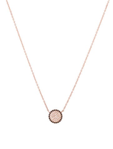 Circle Diamond Pendant Necklace w/Tags