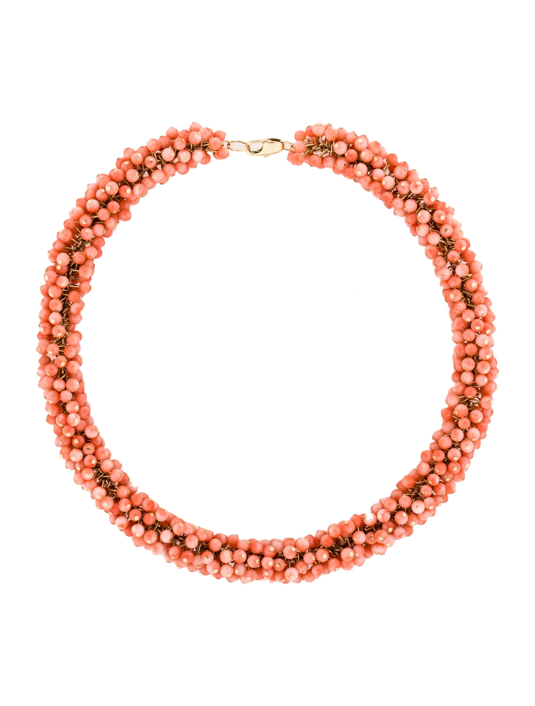 coral beaded necklace necklaces fjn22257 the realreal