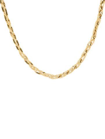 14K Gold Braided Chain