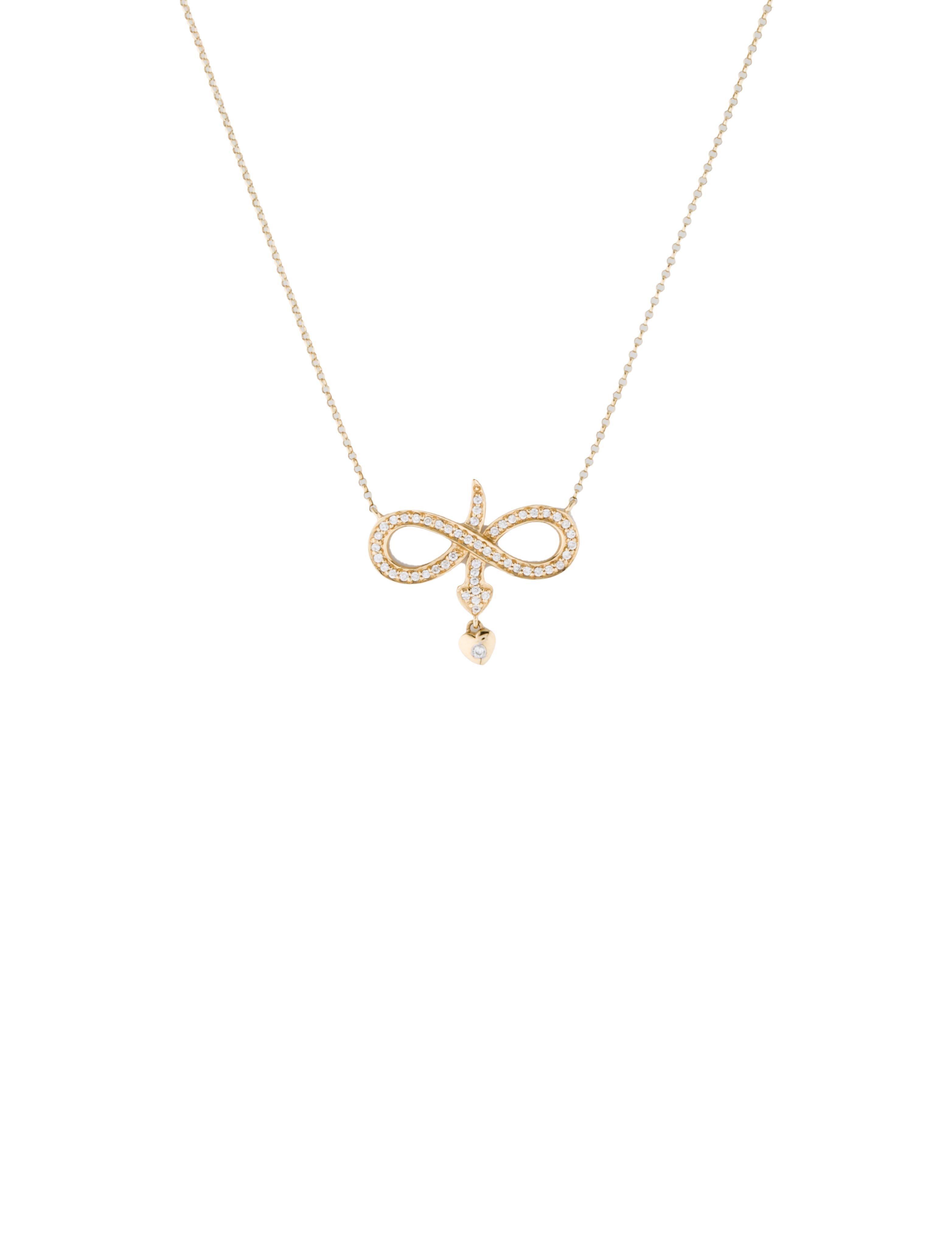 Diamond Infinity Symbol Necklace Necklaces Fjn23443 The Realreal
