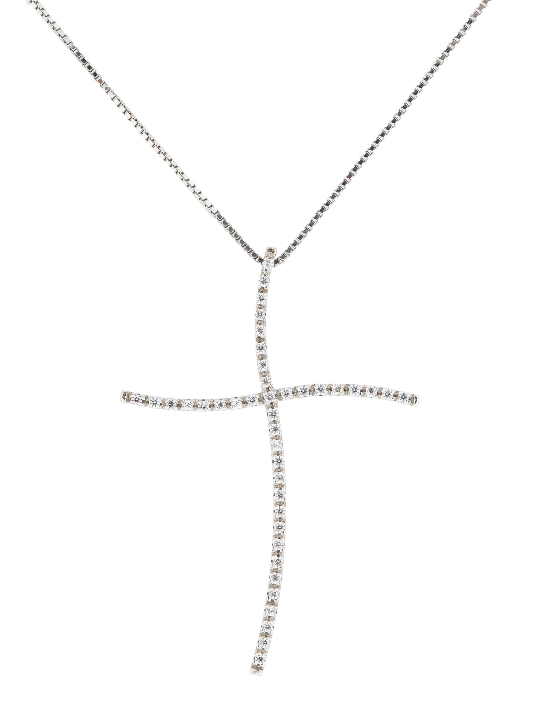 diamond cross pendant necklace necklaces fjn23559