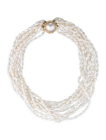 14K Multi-Strand Pearl Necklace