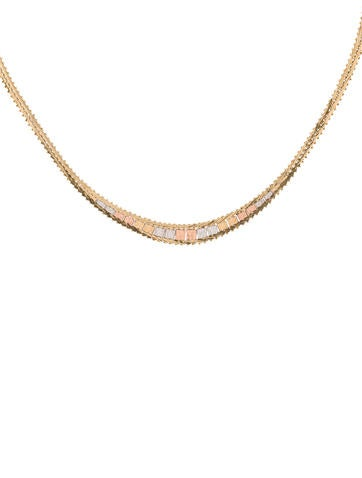 tricolor flat chain necklace necklaces fjn25150 the