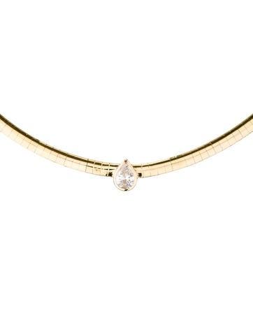 Diamond Pear Choker Necklace