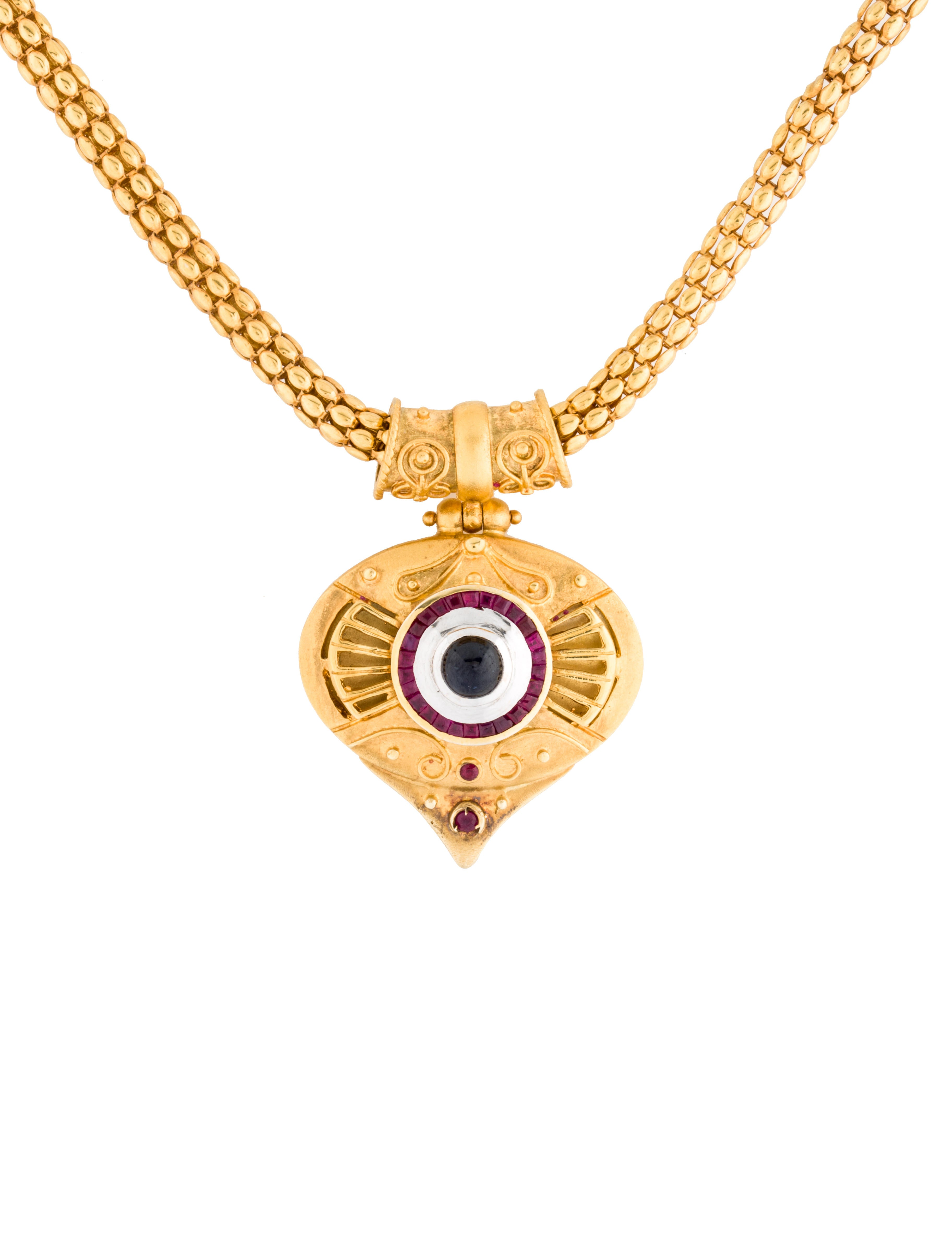 Fine jewelry necklace ruby and sapphire pendant necklace for What is fine jewelry