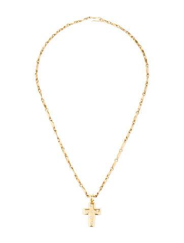 18K Diamond Cross Necklace