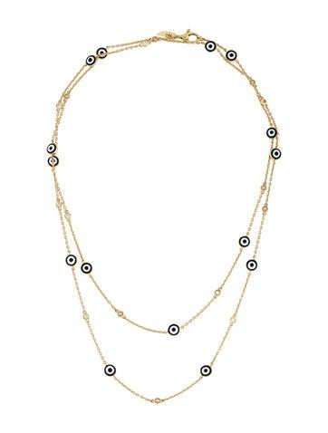 18k evil eye and diamond station necklace necklaces. Black Bedroom Furniture Sets. Home Design Ideas
