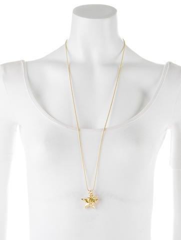 18K Double Diamond Star Necklace