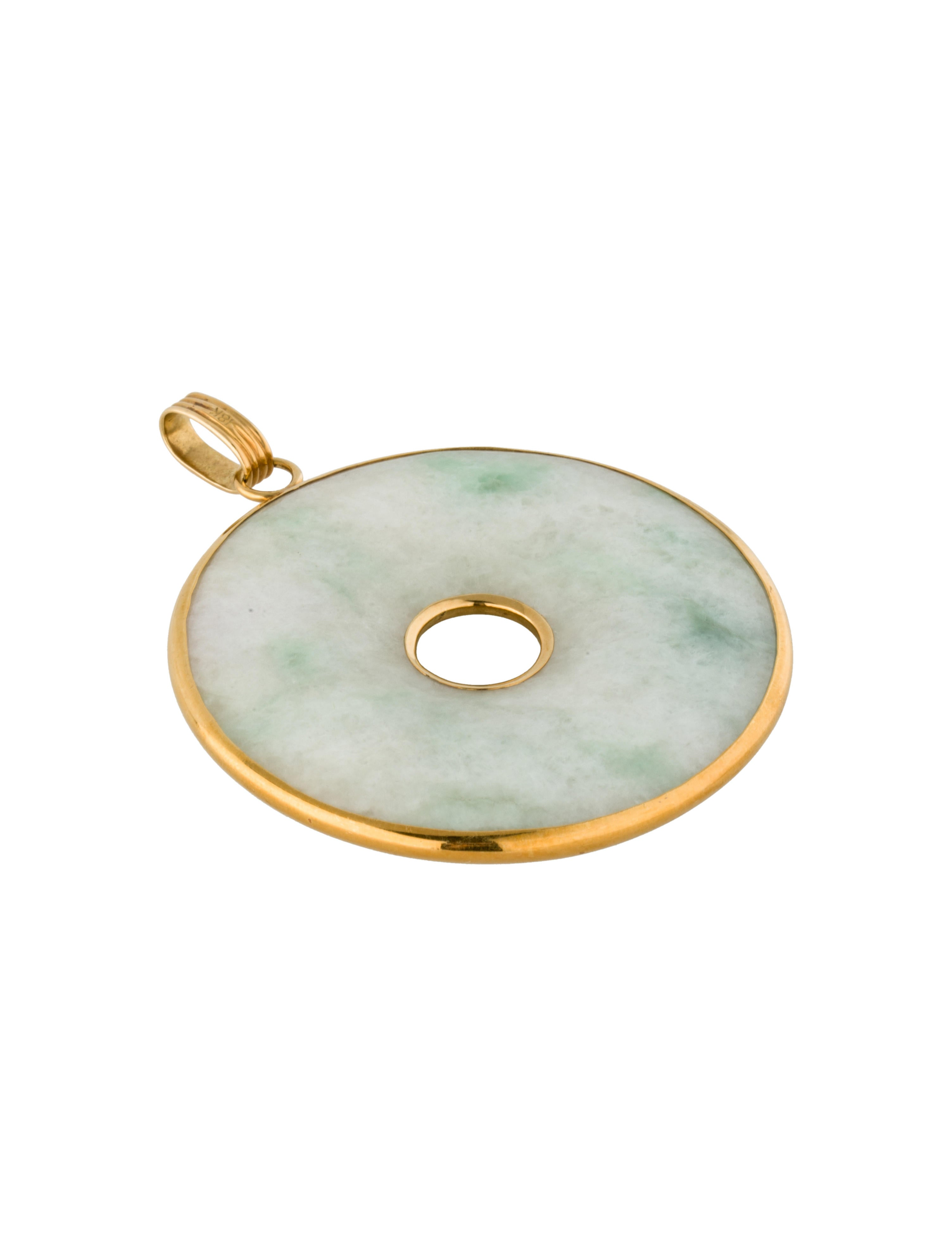 open circle jade pendant necklaces fjp20658 the realreal