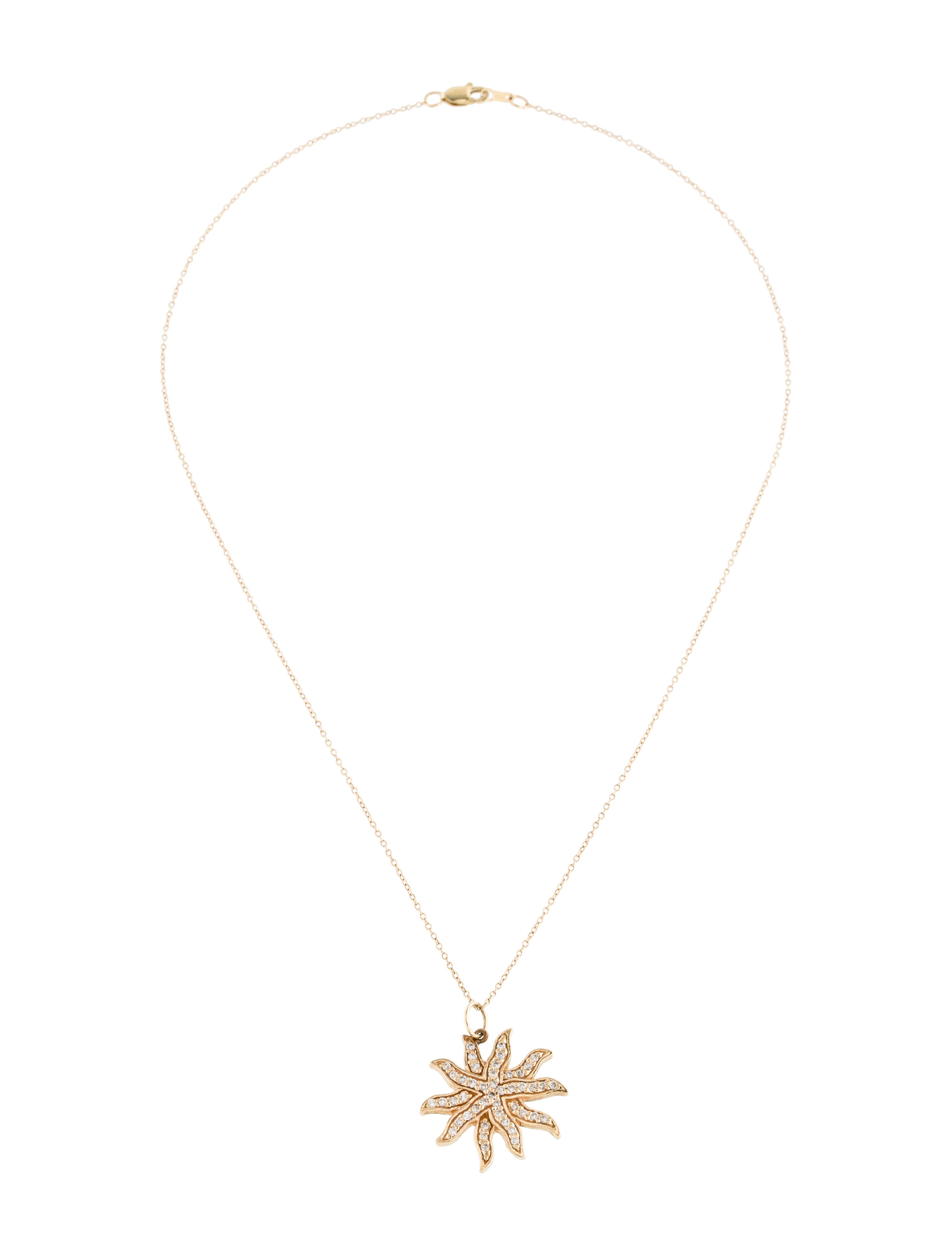 14k diamond star pendant necklace necklaces fjp21302 for Star hallmark on jewelry