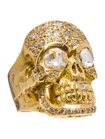Loree Rodkin Pavé Skull Ring 2.5ctw