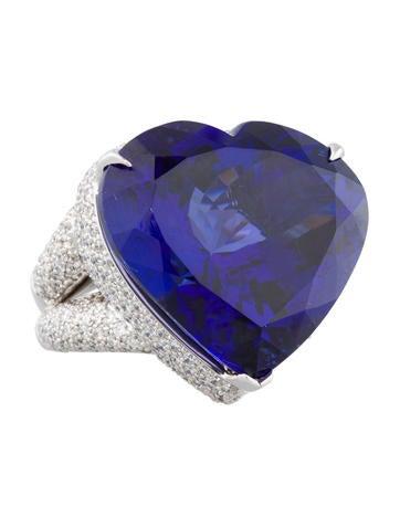48.20ctw Tanzanite and Diamond Dinner Ring