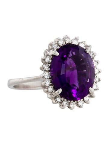 7.00ctw Amethyst and Diamond Ring