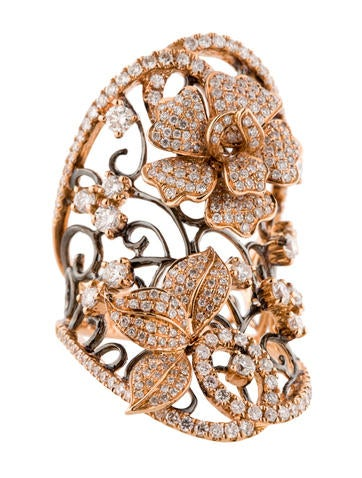 2.10ctw Diamond Flower Ring