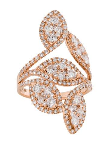 2.52ctw Diamond Leaf Ring