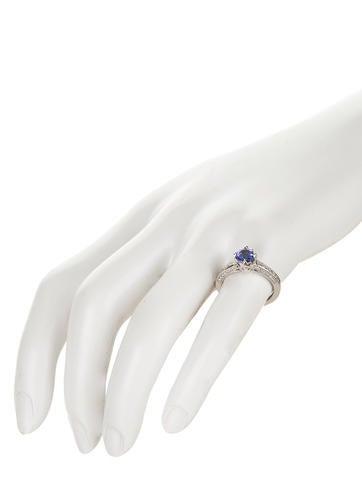 1.00ctw Tanzanite and Diamond Ring