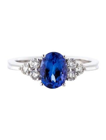 1.58ctw Tanzanite and Diamond Ring