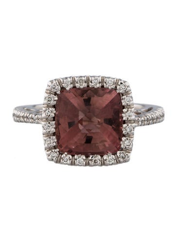 Favero 5.12ctw Tourmaline & Diamond Halo Ring